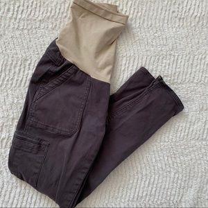 Luxe Essentials full panel maternity pants Sz 27
